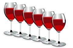 Wein glassess Stockbilder