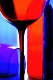 Wein-Glaswaren-Zusammenfassungs-Design Stockfoto