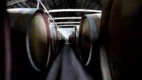 Wein-Hersteller-Gehen stock video footage
