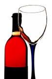 Wein-Hintergrund-Design Lizenzfreie Stockfotografie