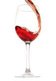 Wein im Glas Stockbild