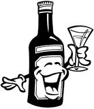 Wein-Karikatur-Vektor Clipart Lizenzfreies Stockbild