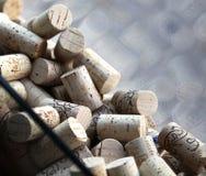 Wein-Korken in einem Fenster, Niagara, Kanada Lizenzfreie Stockfotografie