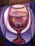 Wein mit Ringen Stockfotos