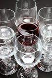 Wein mit teilweiser Reflexion Stockfotografie