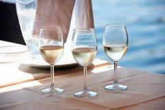 Wein nahe Meer Stockfotografie