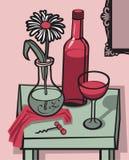 Wein-noch Leben Lizenzfreie Stockfotografie