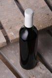 Wein Rotwein in der Flasche Stockfoto