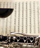 Wein u. Clarinet stockfotografie