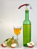 Wein und Äpfel Stockbild