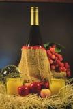Wein und Frucht stockfoto