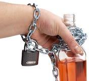 Wein und Hand Stockfoto