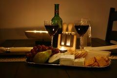 Wein und Käse Stockfotos