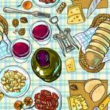 Wein und Käse Lizenzfreie Stockfotos