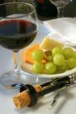 Wein und Käse -- Traditionell Stockfoto