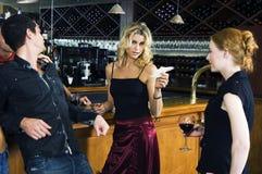 Wein und origami Lizenzfreie Stockfotografie