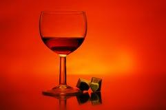 Wein und Schokoladen Lizenzfreies Stockbild