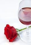 Wein und stieg Lizenzfreie Stockfotos