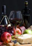 Wein und Trauben Stockfotos