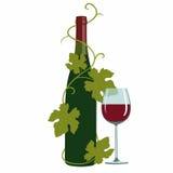 Wein- und Traubenblätter Stockfoto