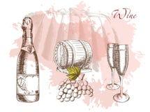 Wein und Weinproduktion Lizenzfreies Stockfoto