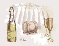 Wein und Weinproduktion Lizenzfreie Stockfotografie