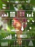 Wein unscharfes infographics Lizenzfreie Stockfotos