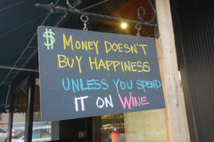 Wein-Zeichen stockbilder