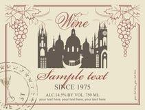 Weinaufkleber stock abbildung