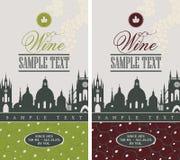 Weinaufkleber Stockbilder