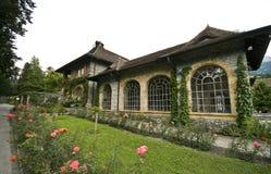 Weinberghaus in der Schweiz Lizenzfreies Stockfoto