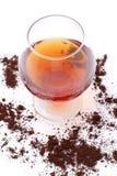 Weinbrand und coffe Stockfotos