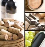 Weincollage lizenzfreie stockbilder