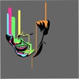 Weinende Farbe des Gelächtererzes Lizenzfreies Stockfoto