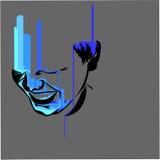 Weinendes Blau des Gelächtererzes Stockfotos