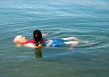 Weiner dog raft Stock Photo