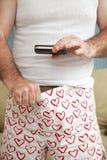 Weiner fotografia - Sexting zdjęcie stock