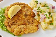 Weiner schnitzel z kartoflaną sałatką Fotografia Royalty Free