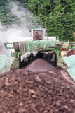 WEINFELDEN, SWITZERLAND - JUNE 22 2010: Aerating compost in indu. Strial environment with a huge special machine Royalty Free Stock Photography
