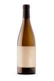 Weinflasche mit Etikette lizenzfreies stockfoto