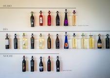 Weinflaschen von Lanzarote stockfotos