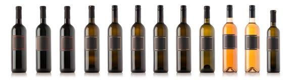 Weinflaschensammlung lizenzfreies stockfoto