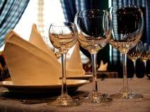 Weingläser Lizenzfreies Stockfoto