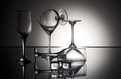 Weingläser Stockbild