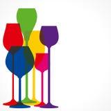 Weinglas stock abbildung
