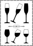Weinglas vektor abbildung