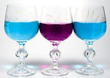 Weinglas drei Stockfotos