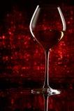 Weinglas mit bokeh Stockfotografie