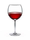 Weinglas mit Rotwein stock abbildung