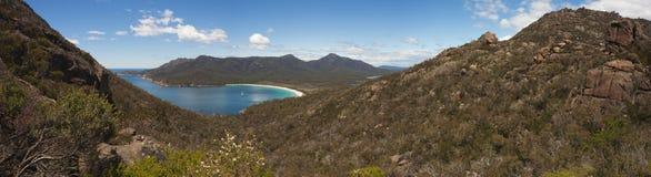 Weinglas-Schacht, Tasmanien Panorama Lizenzfreies Stockbild